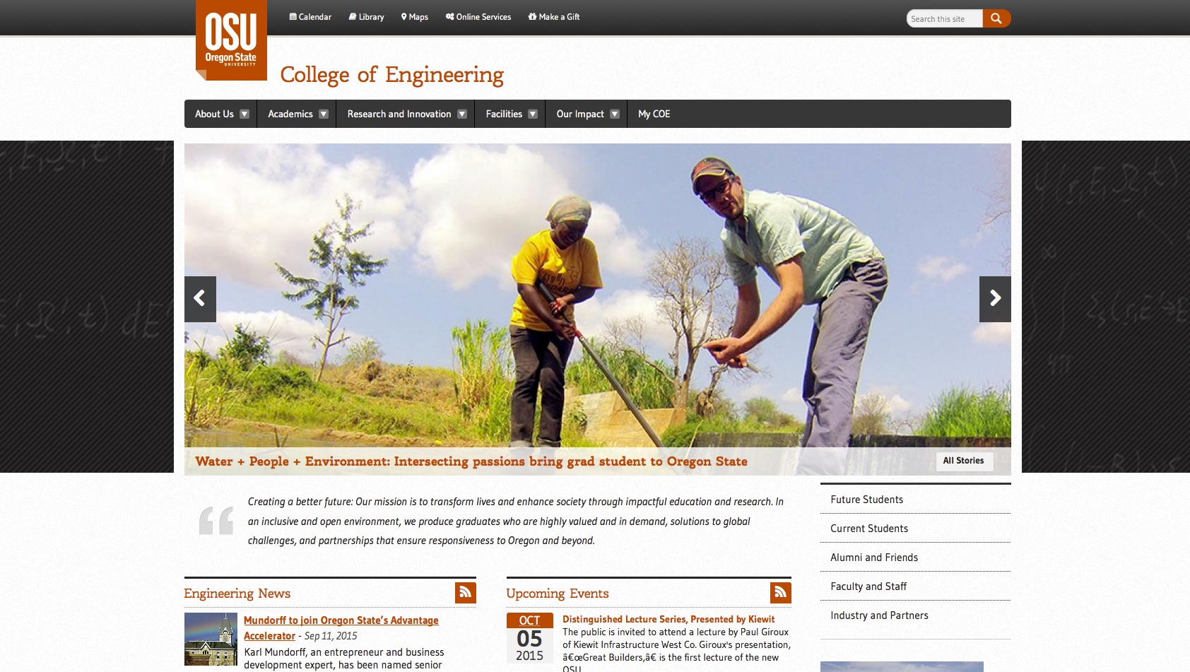 Oregon State University College of Engineering Home Page 2015