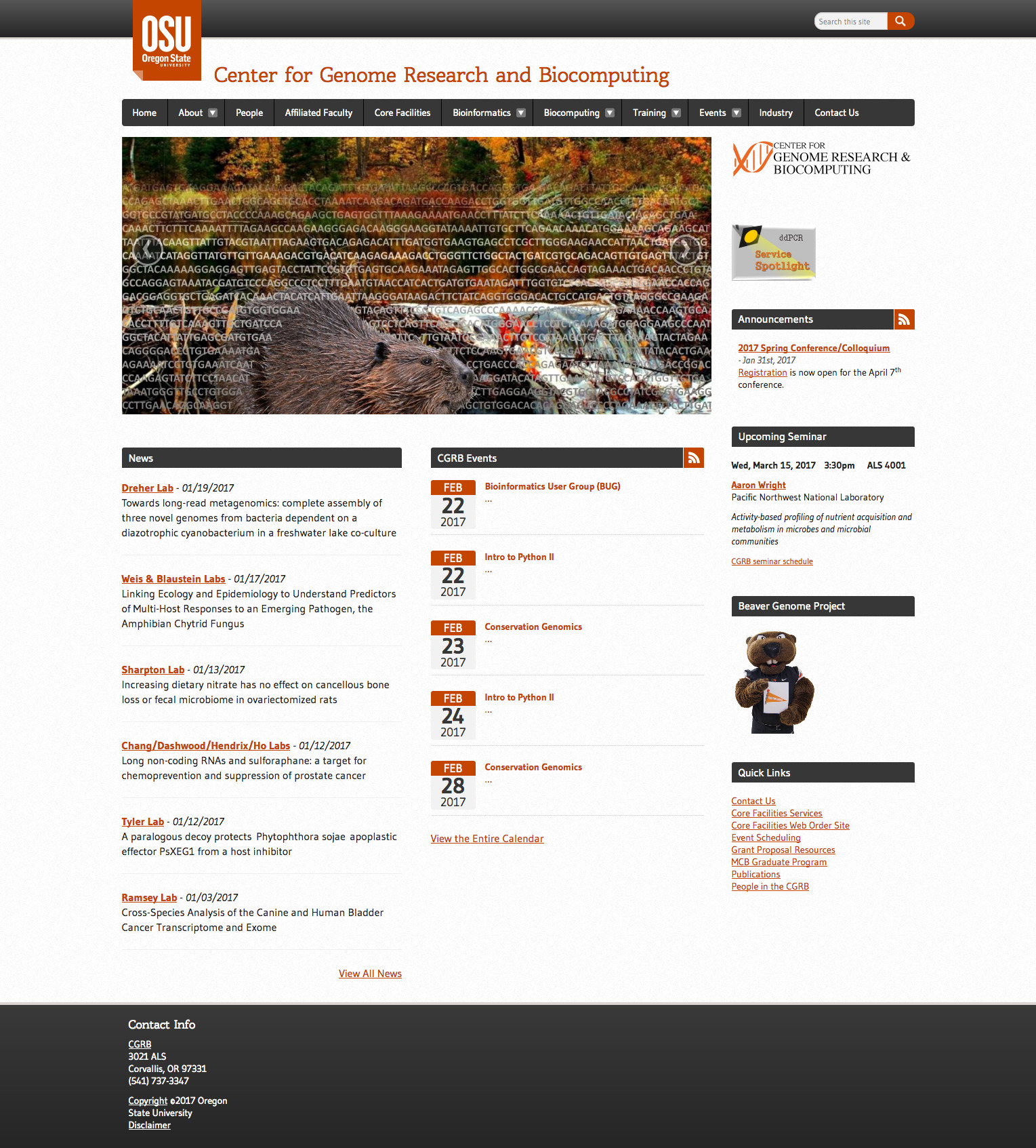 CGRB Home Page - 2016
