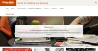 Oregon State University Center for Teaching and Learning Resources Landing Page
