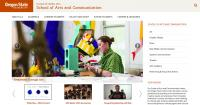 CLA School of Arts and Communication Landing Page