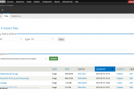 Media file manager list view