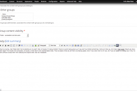 A blank node submission form with the Media Button highlighted in the toolbar.
