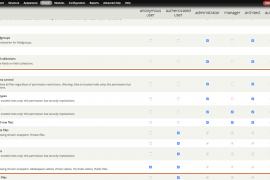 Selecting appropriate File Entity permissions by checking boxes for manager, architect, author, and group user roles.