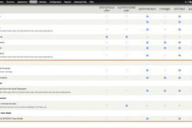 Selecting appropriate Media permissions by checking boxes for manager, architect, author, and group user roles.
