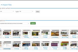 Thumbnail view of all files.