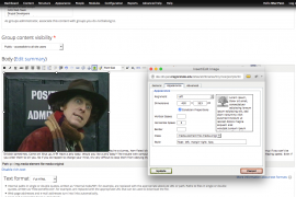 Advanced image dialog box open with Appearance tab showing.