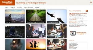 Oregon State University Counseling and Psych Services Home Page - 2016
