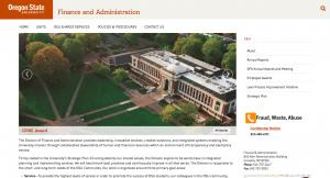 Oregon State University Finance and Administration Home Page - 2016