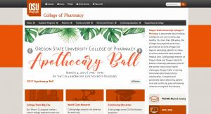 Oregon State University College of Pharmacy Home Page - 2017