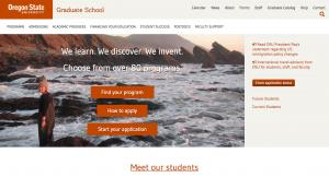 Oregon State University Grad School Home Page - 2016