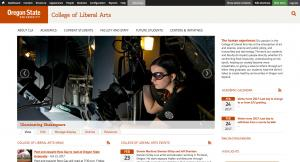 Oregon State University College of Liberal Arts Home Page - 2017