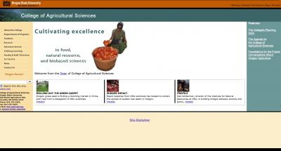 Oregon State University College of Agricultural Sciences Home Page 2004