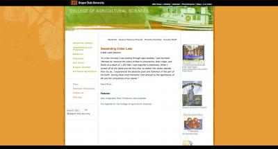 Oregon State University College of Agricultural Sciences Home Page 2007