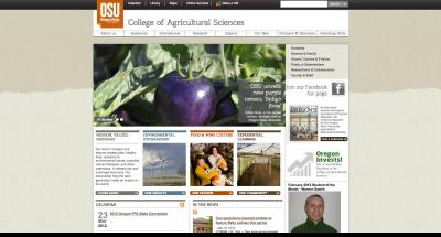 Oregon State University College of Agricultural Sciences Home Page 2012
