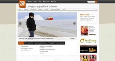 Oregon State University College of Agricultural Sciences Home Page - 2015