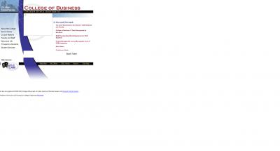 College of Business Home Page - 2000