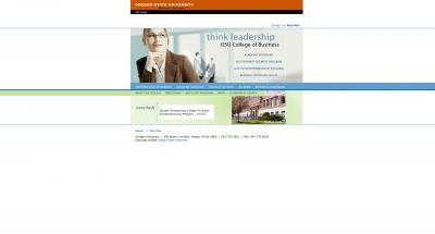 College of Business Home Page - 2004
