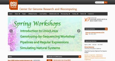 Center for Genome Research Home Page - 2015