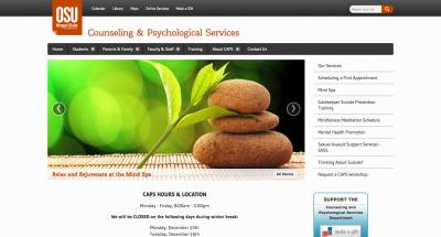 Oregon State University Counseling and Psych Services Home Page - 2014