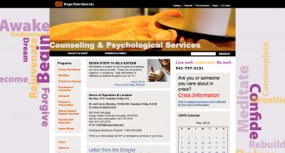 Oregon State University Counsling and Psych Services Home Page - 2010