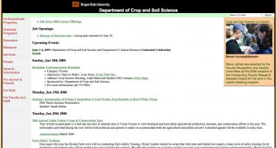 Oregon State University College of Ag Sci - Crop and Soil Science Home Page - 2006