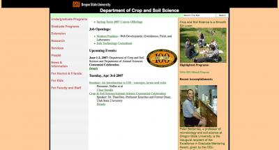 Oregon State University College of Ag Sci - Crop and Soil Science Home Page - 2007