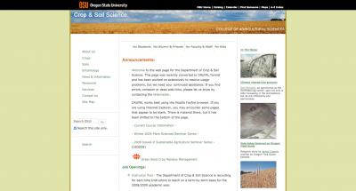 Oregon State University College of Ag Sci - Crop and Soil Science Home Page - 2009