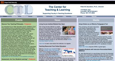 Oregon State University Center for Teaching and Learning Home Page - 2010