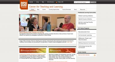 Oregon State University Center for Teaching and Learning Home Page - 2013