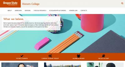 Oregon State University Honors College Home Page - 2017