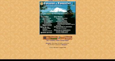 College of Forestry Home Page - 1996