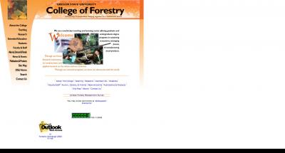 Oregon State University College of Forestry Home Page - 2002