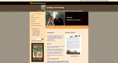 Oregon State University College of Forestry Home Page - 2006