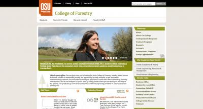 Oregon State University College of Forestry Home Page - 2011