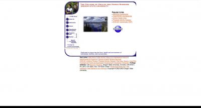 Oregon State University College of Public Health Home Page - 2002