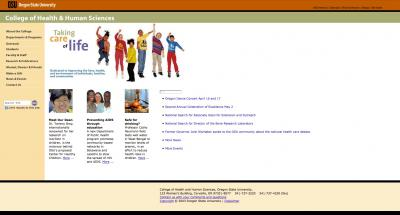 Oregon State University College of Public Health Home Page - 2004