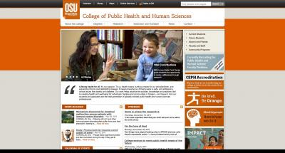 Oregon State University College of Public Health Home Page - 2012
