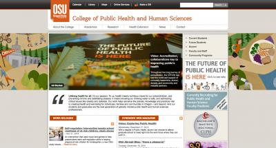 Oregon State University College of Public HealthHome Page - 2014