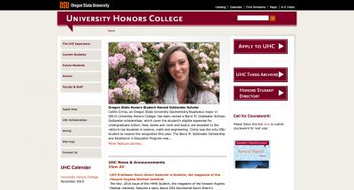 Oregon State University Honors College Home Page - 2010