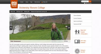 Oregon State University Honors College Home Page - 2013