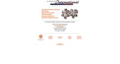 Oregon State University Office of International Education Home Page - 1999