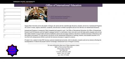 Oregon State University Office of International Education Home Page - 2004