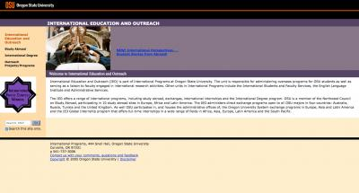 Oregon State University Office of International Education Home Page - 2005