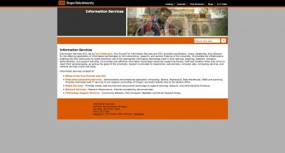 Oregon State University Information Services Home Page - 2010