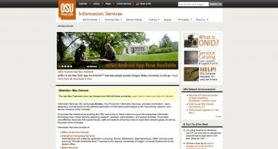 Oregon State University Information Services Home Page - 2012