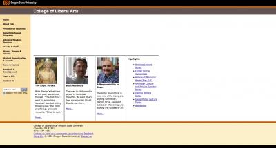 Oregon State University College of Liberal Arts Home Page 2005