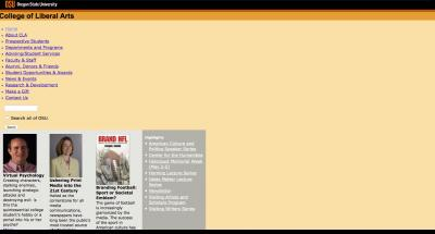 Oregon State University College of Liberal Arts Home Page - 2007