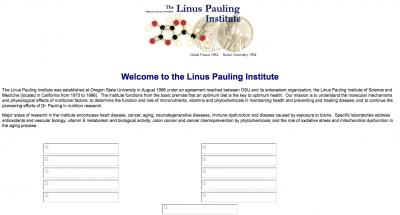 Oregon State University Linus Pauling Institute Home Page - 2000