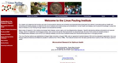 Oregon State University Linus Pauling Institute Home Page - 2004