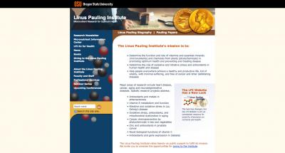 Oregon State University Linus Pauling Institute Home Page - 2006